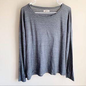 Madewell Gray Long Sleeve Basic Tee T-shirt